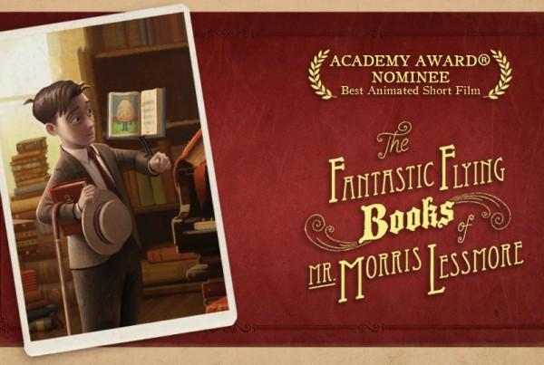 Imagen The Fantastic flying books of Mr Morris Lessmore, portada web, Moonbot Studios